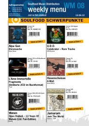 Tourdaten - Soulfood