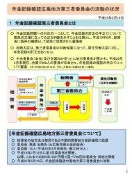 年金記録確認広島地方第三者委員会の活動の状況 - 総務省