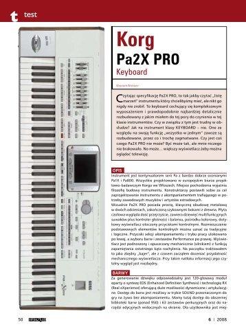Korg Pa2X PRO - Mega Music
