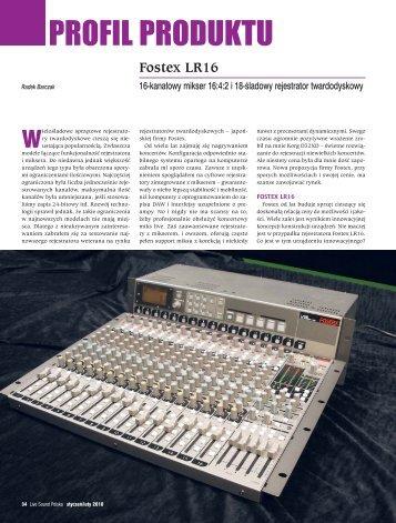 Test modelu LR16 - format PDF - SOUND.PL