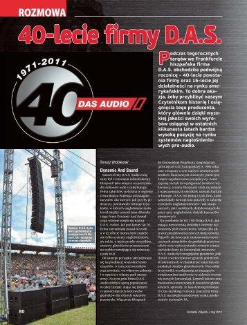 40-lecie firmy D.A.S. - SOUND.PL