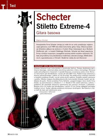 Test modelu Stiletto Extreme-4 (PDF, 265KB) - Mega Music