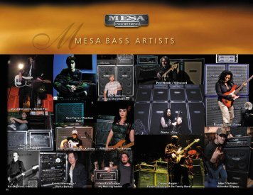 MMESA BASS ARTISTS - SOUND.PL