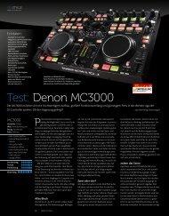 Test: Denon MC3000 - Musik Produktiv