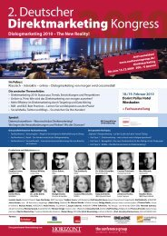 2. Deutscher Direktmarketing Kongress - The Conference Group ...