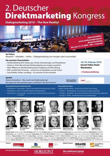 2. Deutscher Direktmarketing Kongress - The Conference Group ...