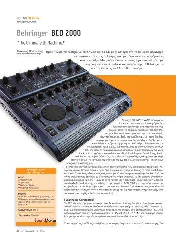 Behringer BCD 2000 - soundmaker