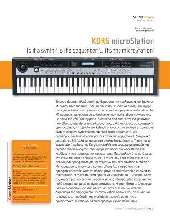 KORG microStation - soundmaker