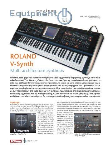 ROLAND V-Synth - soundmaker