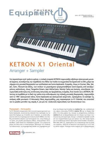 KETRON X1 Oriental - soundmaker