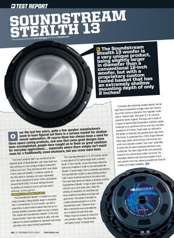PAS Magazine, Stealth Review - Soundstream