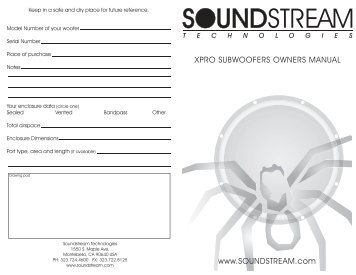 xpro series - Soundstream