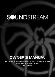 pcx anolog series manual - Soundstream