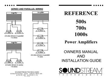 REFERENCE 500s 700s 1000s - Soundstream