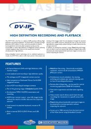 Dedicated Micros DM/DVPH/8H30 Video servers - SourceSecurity ...