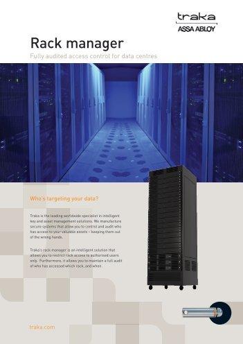 Traka Rack Manager Access control systems & kits product datasheet
