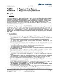 AV3155 3 megapixel colour and day/night cameras - SourceSecurity ...