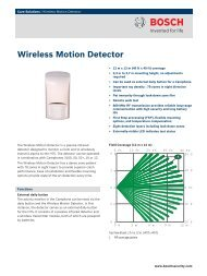 Wireless Motion Detector - Bosch Security Systems