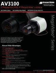 Arecont Vision AV3100DN IP cameras product datasheet