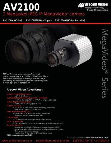 Arecont Vision AV2100DN IP cameras product datasheet