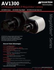 Arecont Vision AV1300DN IP cameras product datasheet