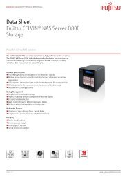 Data Sheet Fujitsu CELVIN® NAS Server Q800 Storage - Icecat.biz