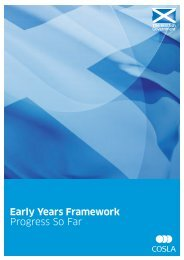 Early Years Framework: Progress So Far - Scottish Government
