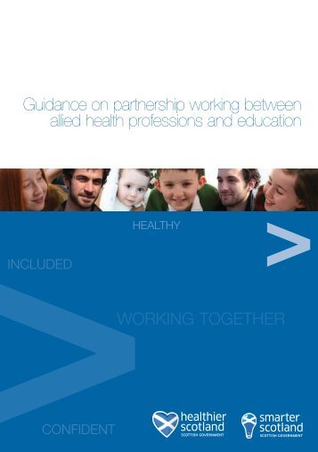 Guidance on partnership working between allied health professions ...