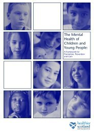 Mental Health of Children and Young People - Scottish Government