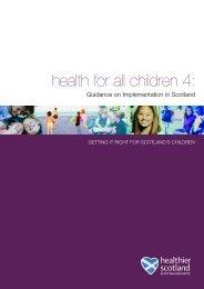 Health for All Children 4 - Scottish Government