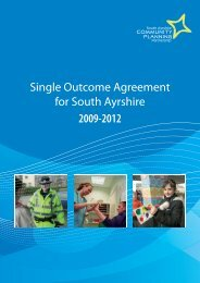 Single Outcome Agreement - South Ayrshire Council