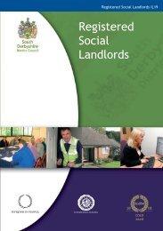 Registered Social Landlords - South Derbyshire District Council