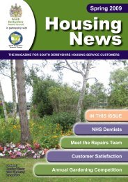 Housing News Spring 2009 - South Derbyshire District Council
