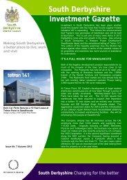 Investment Gazette - Issue 7 - Autumn 2012 - South Derbyshire ...