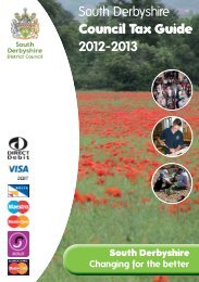 Council Tax Leaflet 2012-13 - South Derbyshire District Council