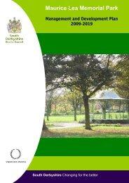 Maurice Lea Memorial Park - South Derbyshire District Council