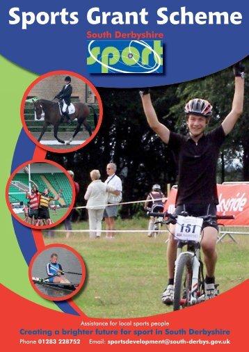 Sports Grants Nomination Form 2011/12 - South Derbyshire District ...