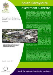 Investment Gazette - Issue 4 - Spring 2011 - South Derbyshire ...
