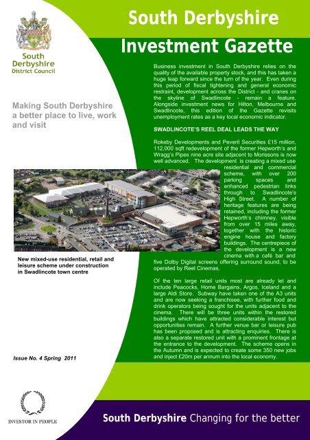 Investment Gazette - Issue 4 - Spring 2011 - South Derbyshire ...