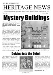 Heritage News Issue 31 (12049KB) - South Derbyshire District Council