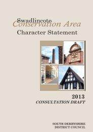 Swadlincote consultation draft 2013 - South Derbyshire District ...