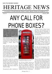 Heritage News Issue 29 (2812KB) - South Derbyshire District Council