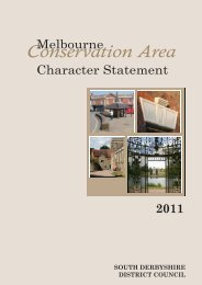 Melbourne Statement adopted 2011 - South Derbyshire District ...