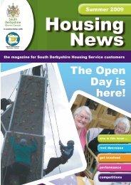 Housing News Summer 2009 - South Derbyshire District Council