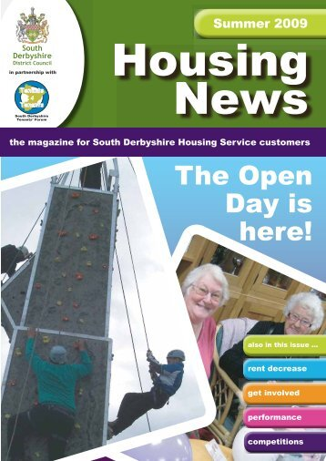 Housing News Summer 2009 - South Derbyshire District Council