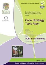 Built Environment - South Derbyshire District Council