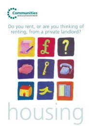 Do you rent, or are you thinking of renting, from a private landlord?