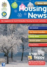 Housing News Winter 2011.indd - South Derbyshire District Council