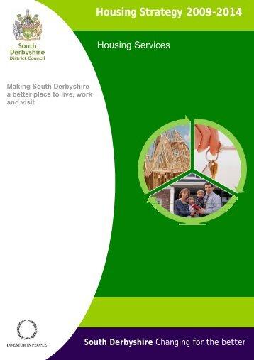 Housing Strategy 2009-2014 - South Derbyshire District Council