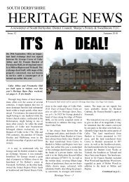 Heritage News Issue 32 (8505KB) - South Derbyshire District Council